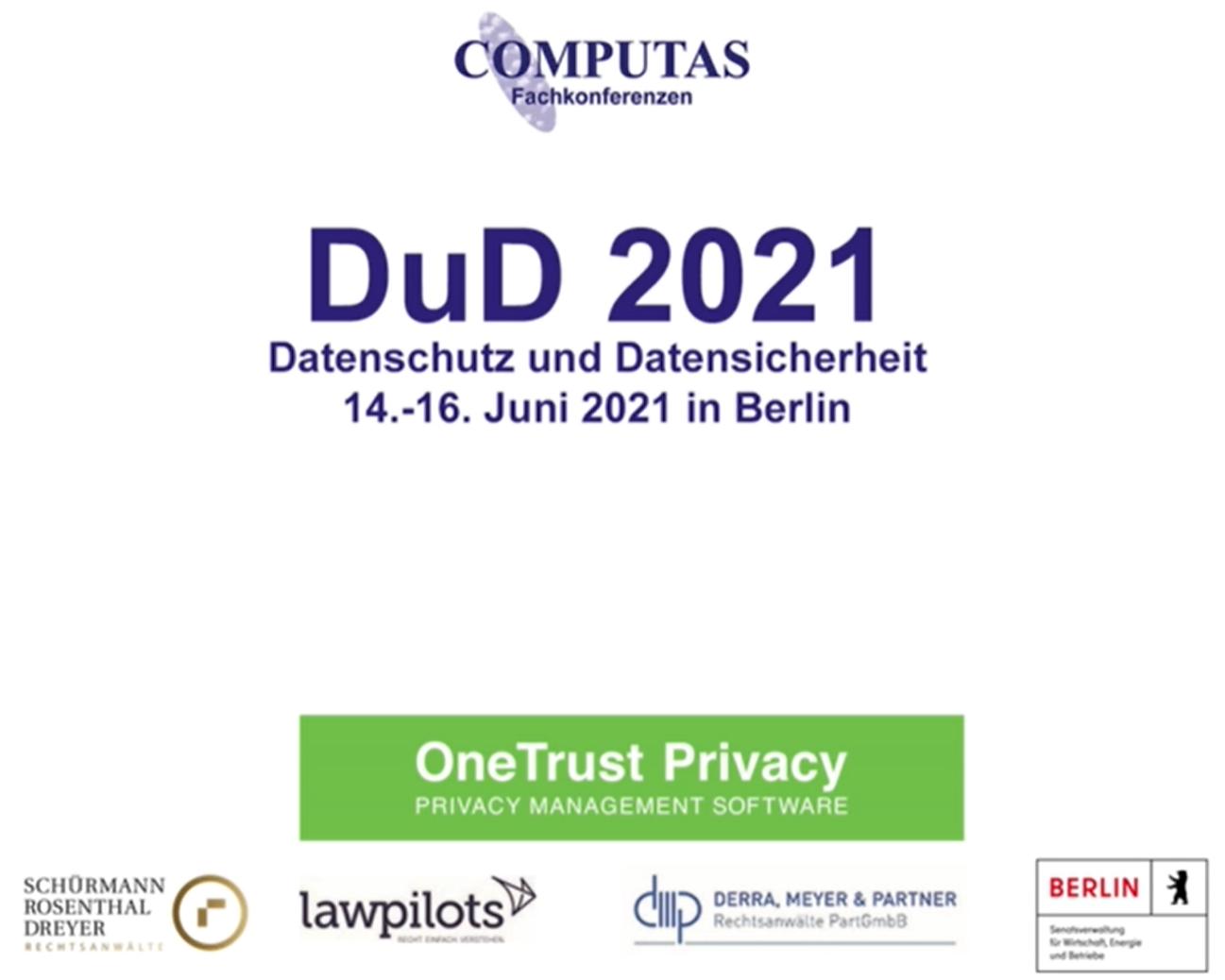 DuD 2021 in Berlin