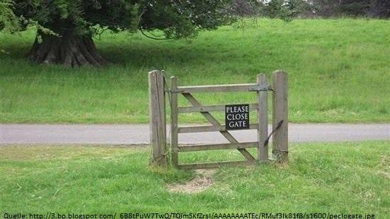 Close the gate...